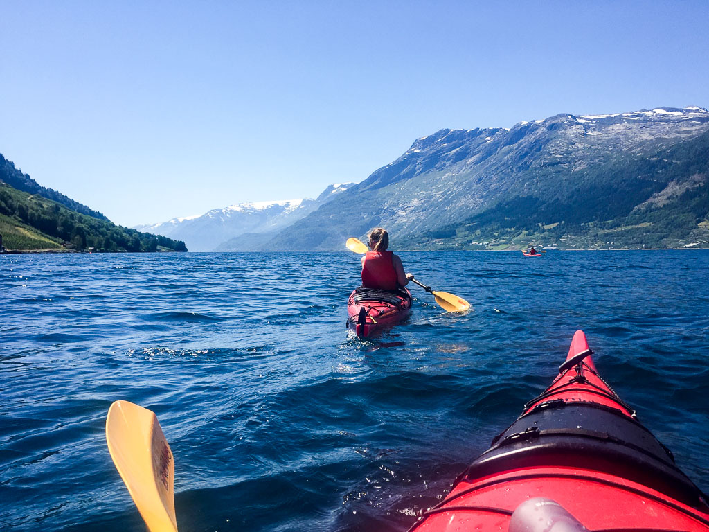 Kayaking on the Sørfjorden (Eat Me. Drink Me.)