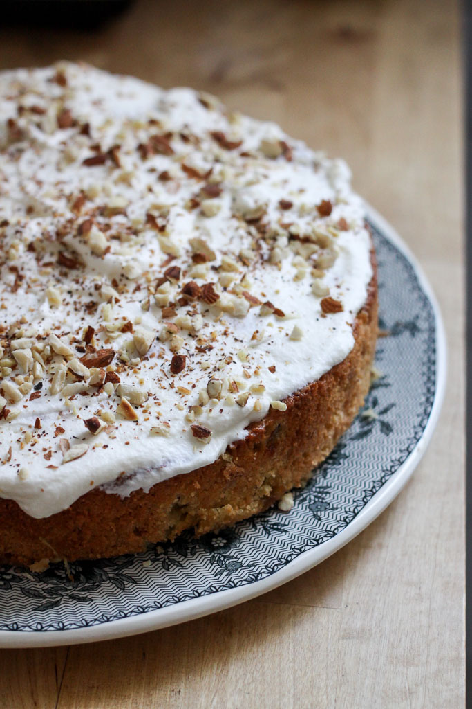 Almond and rhubarb cake with marzipan (Eat Me. Drink Me.)