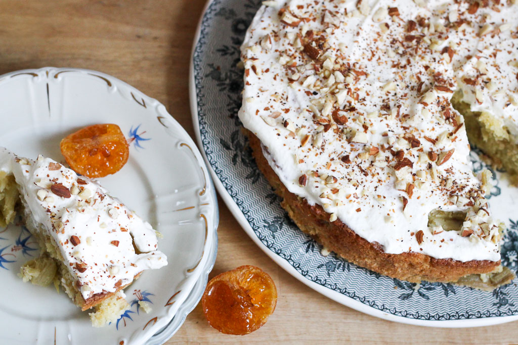 Almond and rhubarb cake (Eat Me. Drink Me.)