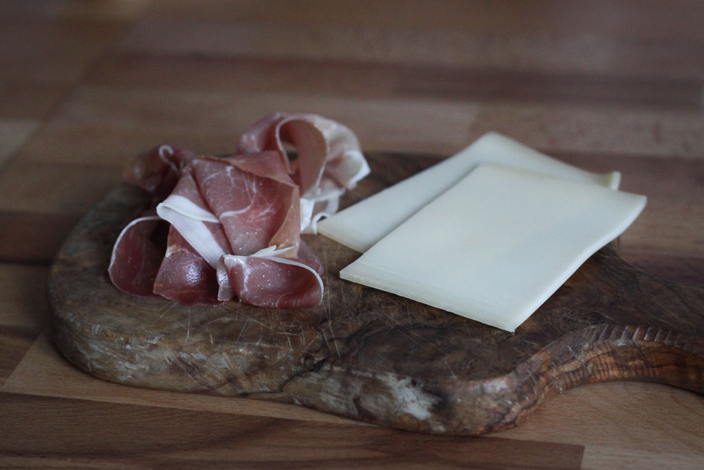 Prosciutto and Gruyère (Eat Me. Drink Me.)