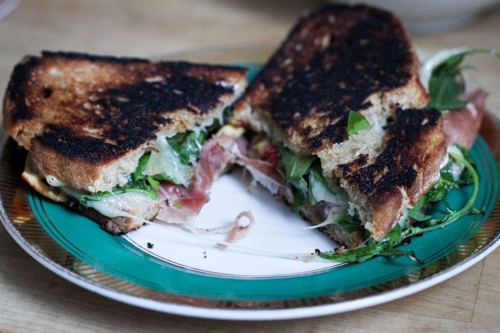 Grilled cheese with fig and prosciutto (Eat Me. Drink Me.)
