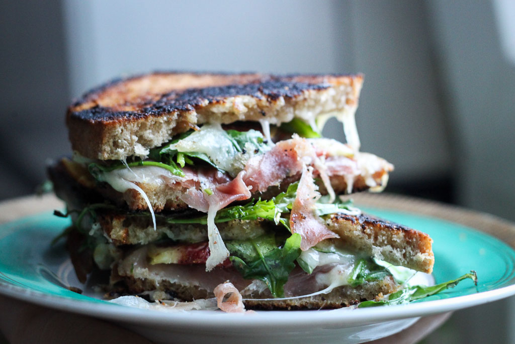 Prosciutto and fig grilled cheese (Eat Me. Drink Me.)