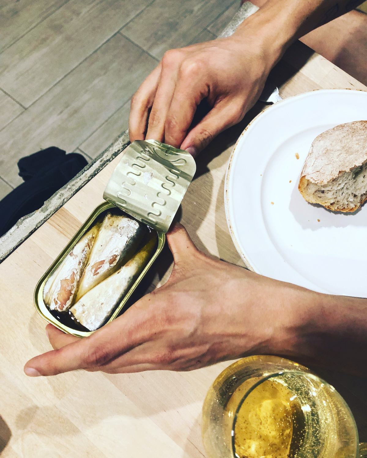 Tinned sardines for dinner in Lisbon (Eat Me. Drink Me.)